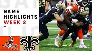 Browns vs. Saints Week 2 Highlights | NFL 2018