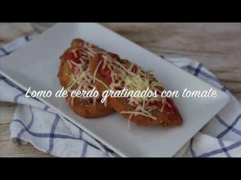 Lomo gratinado con tomate