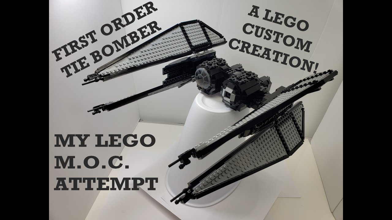 LEGO FIRST ORDER TIE BOMBER MOC!