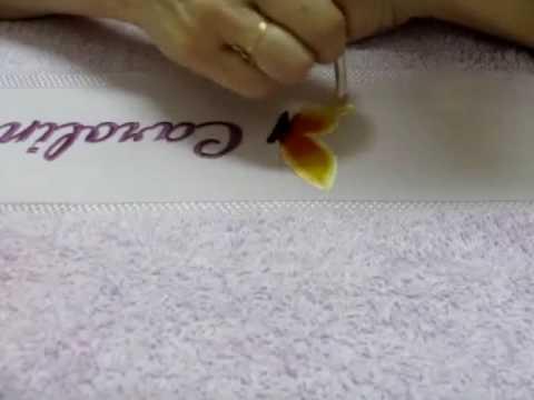 Borboleta com stencil