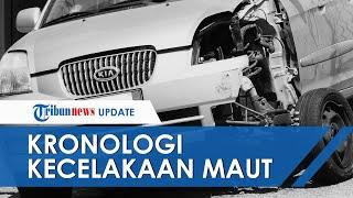 Kronologi Kecelakaan Maut Mobil Tabrak Pembatas Jalan, Besi Tembus dari Depan Mentok sampai Belakang