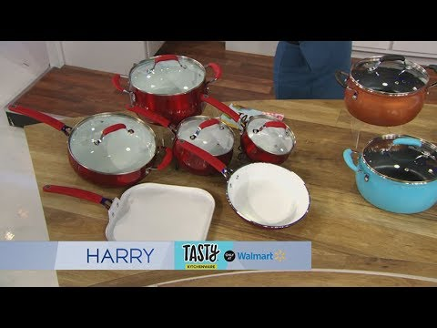 Harry Checks Out Tasty's New Line of Cookware at Walmart