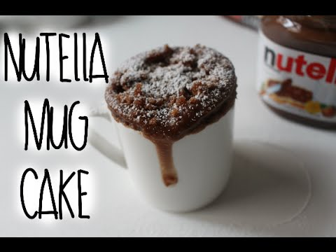 Video Nutella Mug Cake Recipe!
