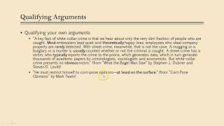 Qualifying Arguments