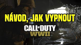 How to turn off call of duty WW2