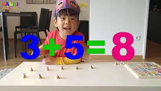 Learn NUMBER ADDITION | Maths Tutorial Video for children | 3-4 year old boy | best learning video