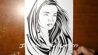 4460f0e4e Drawing a Beautiful Womans Face - Stylish SVG Design (JSHcreates)