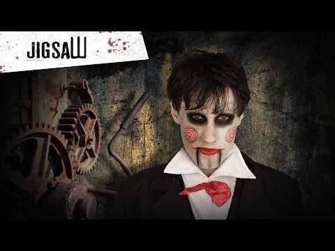 Halloween Saw schmink tutorial voor volwassenen