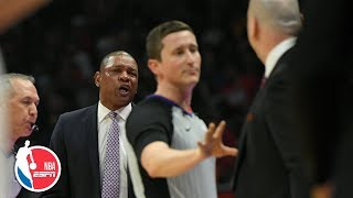 Doc Rivers and Jim Boylen react to being ejected during Bulls vs. Clippers | NBA on ESPN