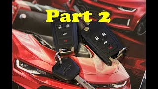How to program Chevrolet Keyfob Key fob for 2011 - 2015 Camaro Equinox Avalanche