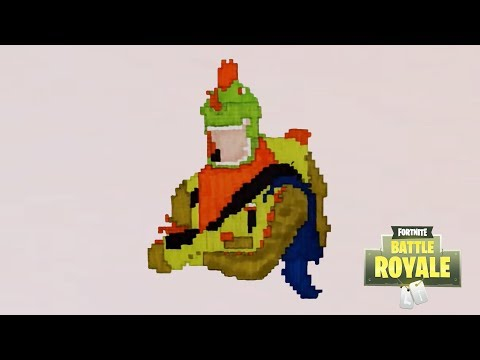 Tuto Comment Dessin Le Rapace En Pixel Art Fortnite