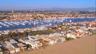 Newport Beach CA Aerial Tour