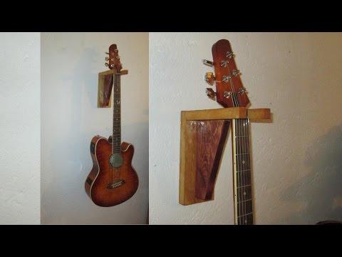 Como hacer Soporte  de madera Para Guitarra (#5 ) FACIL