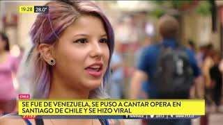 Canta opera, escapó de Venezuela y sigue su sueño en Chile