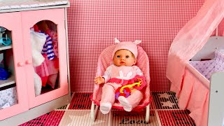 Baby Born Baby Annabell Bedroom Nursery Center Compilation, Pretend play with Baby Dolls