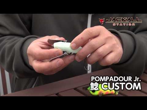 Vobler Jackall Pompadour Jr. Namazu Custom 66mm 18g Zarigaeru F