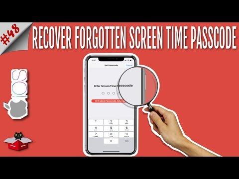 forgot screen time passcode iphone 5s
