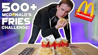 500+ McDONALD'S FRIES CHALLENGE! 🍟| WE GOT TICKETS TO SEE THE KSI AND LOGAN PAUL FIGHT!🥊