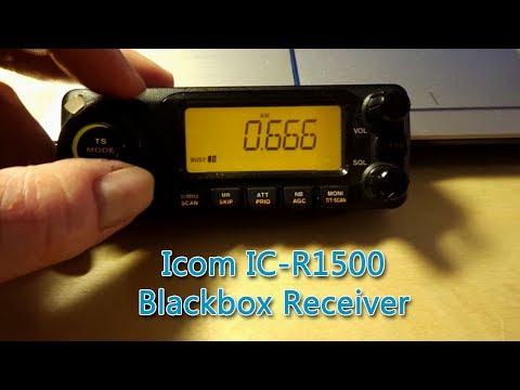 Icom IC-R1500 PCR1500 Breitbandempfänger Funkscanner mit Bedienteil Demo