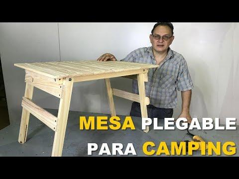 MESA PARA CAMPING CON PATAS PLEGABLES FÁCIL DE HACER PASO A PASO - TUTORIAL DE CARPINTERÍA