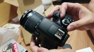 Canon - EOS Rebel T6 DSLR Camera with EF-S 18-55mm IS II and EF 75-300mm III lens - UnBoxing video