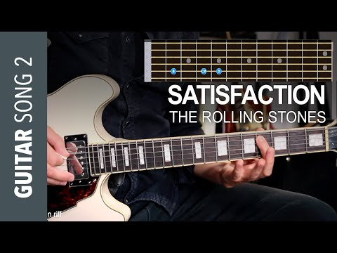 Electric Guitar Song 2 - Satisfaction by Rolling Stones // Guitar Lesson Tutorial