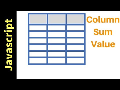 Download javascript how to get html table column values sum