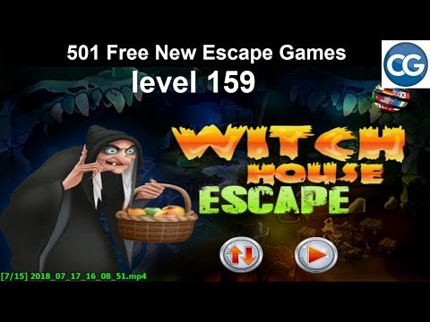 [Walkthrough] 501 Free New Escape Games level 159 - Witch house escape - Complete Game