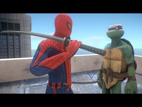 Raphael Vs Spiderman (Teenage Mutant Ninja Turtles) - EPIC BATTLE