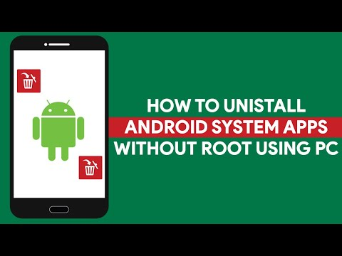 How To Unistall Android System Apps Without Root Using PC - [romshillzz]