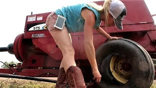 Newly Repaired Hay Baler Breaks AGAIN! (Video 1 of 2)
