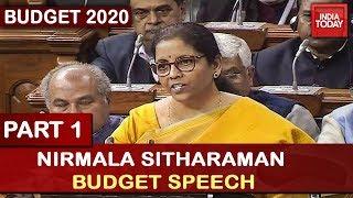 Nirmala Sitharaman Budget Speech 2020 | Part 1