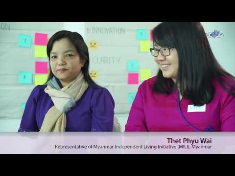 Image of the video: AGENDA Interview with Myanmar Disability Rights Advocates