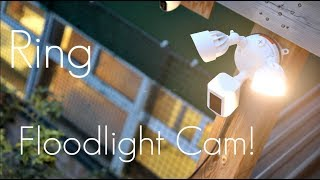 Affordable Home Security! - RING Floodlight Security Camera! - Review / Demo / RAW Footage