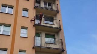 Mycie elewacji na balkonach - Olanex