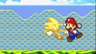Mario vs Supersonic vs Quote (Kirby FC) -FIRST ANIMATION-