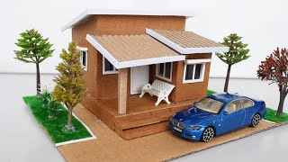 How To Make Beautiful Dollhouse Using Cardboard