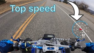 What is the top speed of a raptor 700 ? top speed GPS