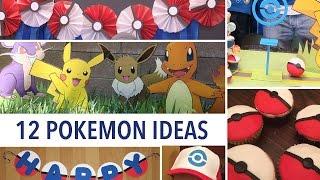 POKEMON 12 Ideas Para Fiestas - Decoración, Actividades Y Comida