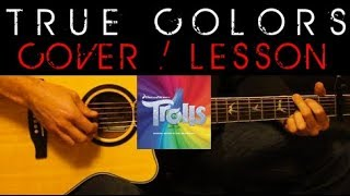 Gambar cover TRUE COLORS - Justin Timberlake Anna Kendrick Trolls Cover 🎸 Easy Acoustic Guitar Tutorial Lesson