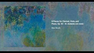 8 Pieces for Clarinet, Viola and Piano, Op. 83
