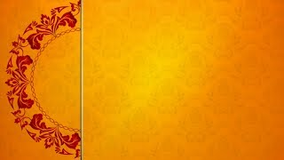 Free Royal Orange Motion Wheel Blank Wedding Invitation Template | EI 1