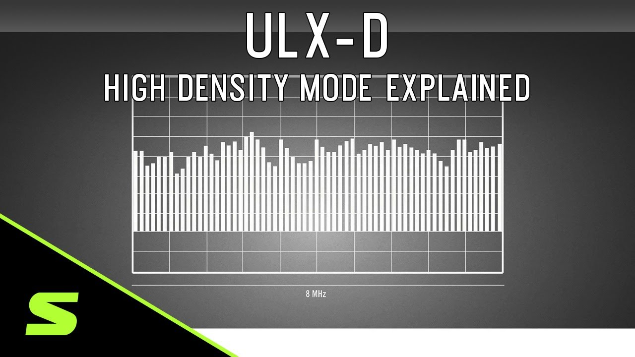 Shure ULX-D High Density Mode Explained