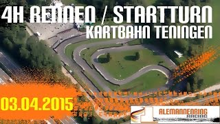preview picture of video 'Leihkart | Kartbahn Teningen | 4 Stunden Rennen | 03.04.2015 | 1. Turn'