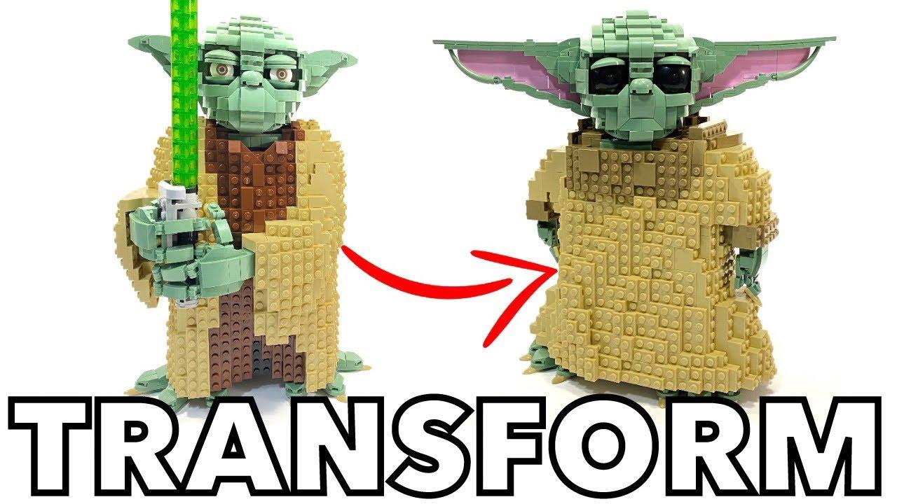 How To make a LEGO BABY YODA! - LEGO MOC