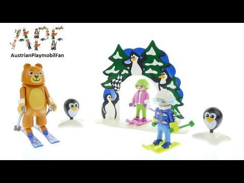 Vidéo PLAYMOBIL Family Fun 9282 : Moniteur de ski avec enfants