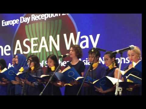 "EU Choir sing ""The ASEAN Way"" at the Europe Day 2019 Reception"