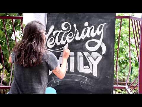 How To Do Chalk Lettering in 7 EASY Steps - Jimbo Bernaus - Lettering Daily