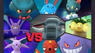 Donphan  - (Pokémon) - Pokémon GO Gym Battles 2 Gyms Donphan Misdreavus Sneasel Espeon Blissey Octillery Crobat & more