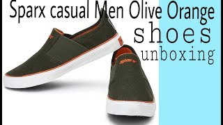 Sparx  Casuals For Mens Shoes Unboxing (Sparx Casual Men Olive Orange Shoes)
